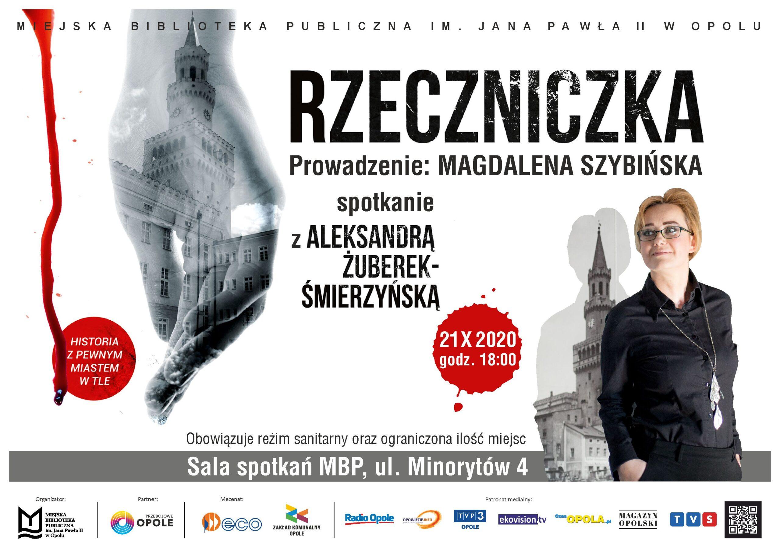 SPOTKANIE ODWOŁANE! // Rzeczniczka – spotkanie z Aleksandrą Żuberek-Śmierzyńską