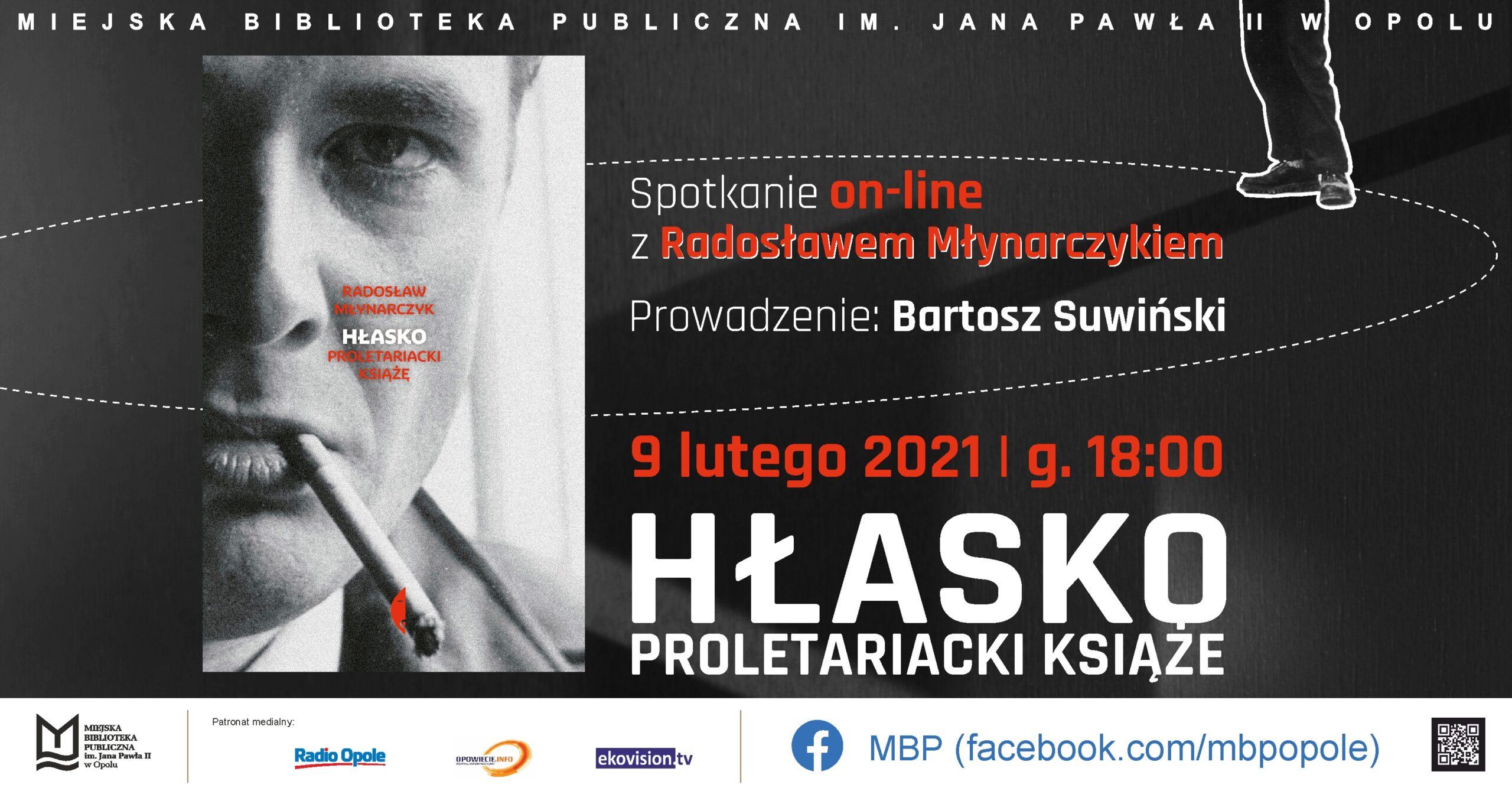 Hłasko. Proletariacki książę – spotkanie online z Radosławem Młynarczykiem