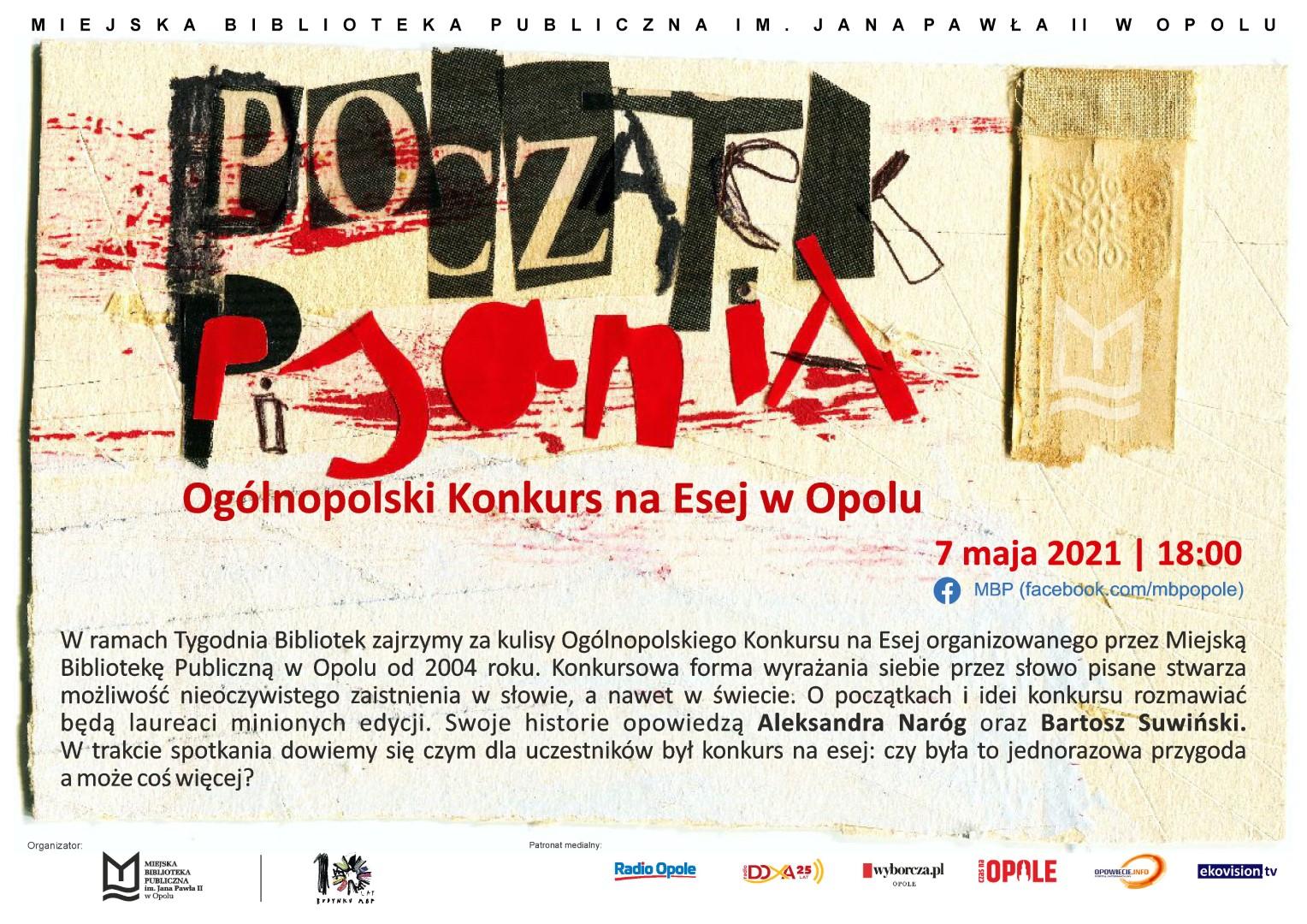 Początek pisania. Ogólnopolski Konkurs na Esej w Opolu