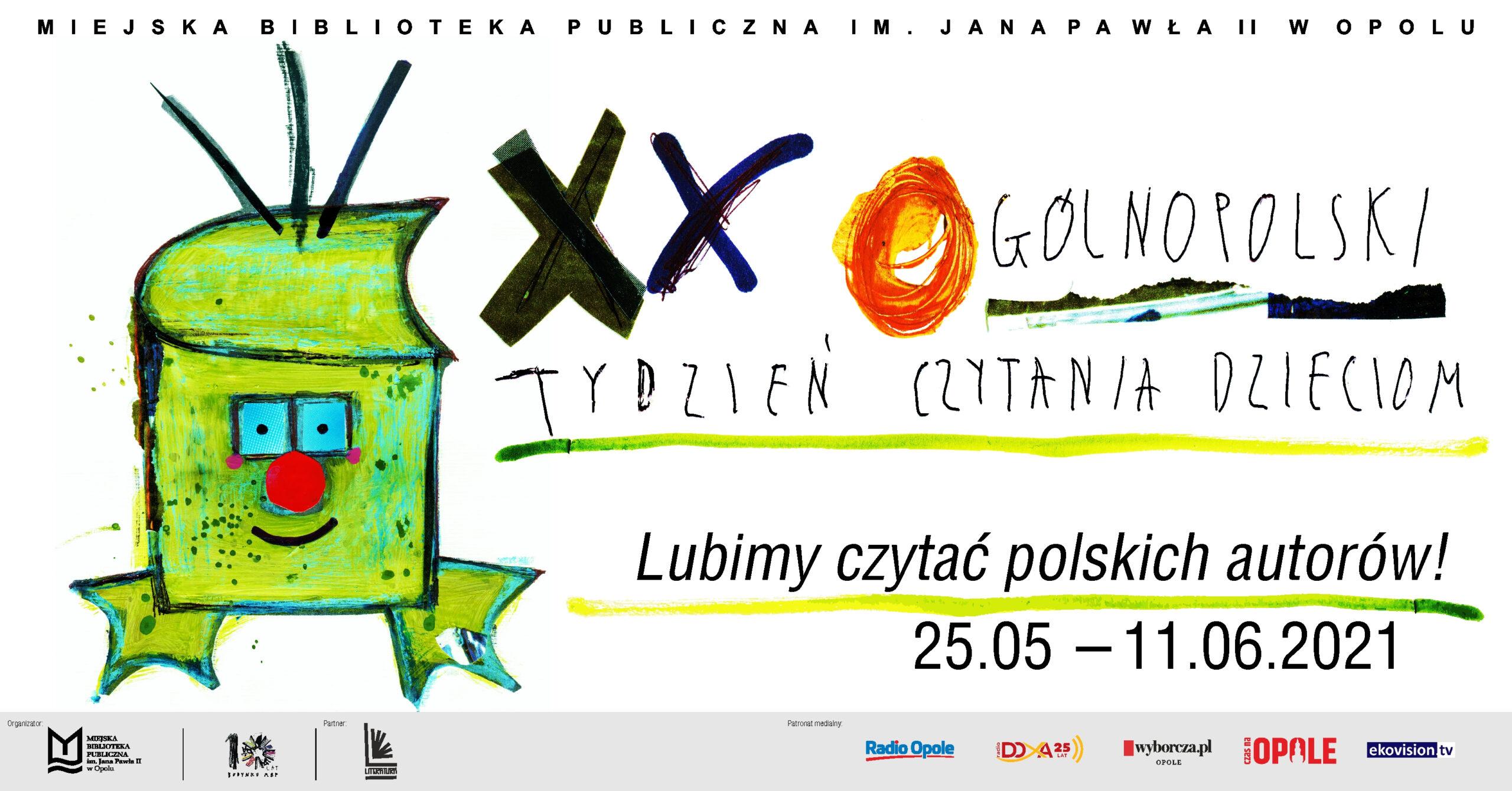 XX Ogólnopolski Tydzień Czytania Dzieciom – Lubimy czytać polskich autorów!