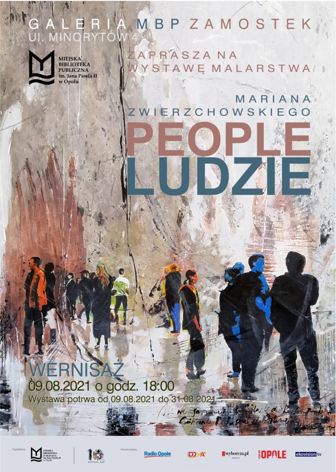 PEOPLE/LUDZIE – wystawa malarstwa Mariana Zwierzchowskiego