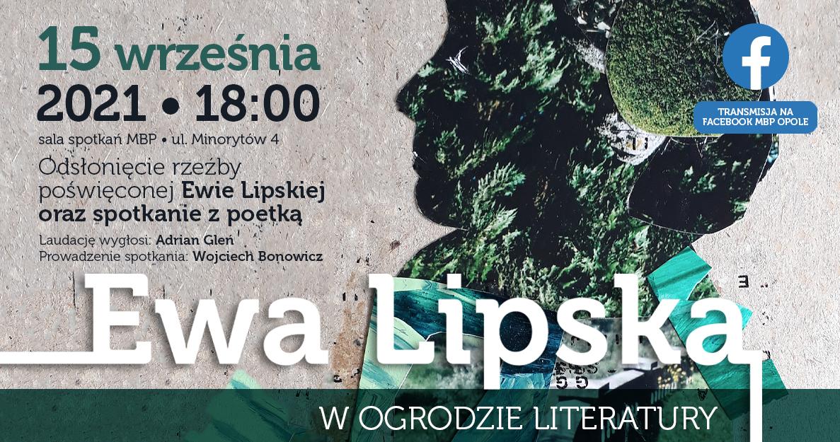 Ewa Lipska w Ogrodzie Literatury