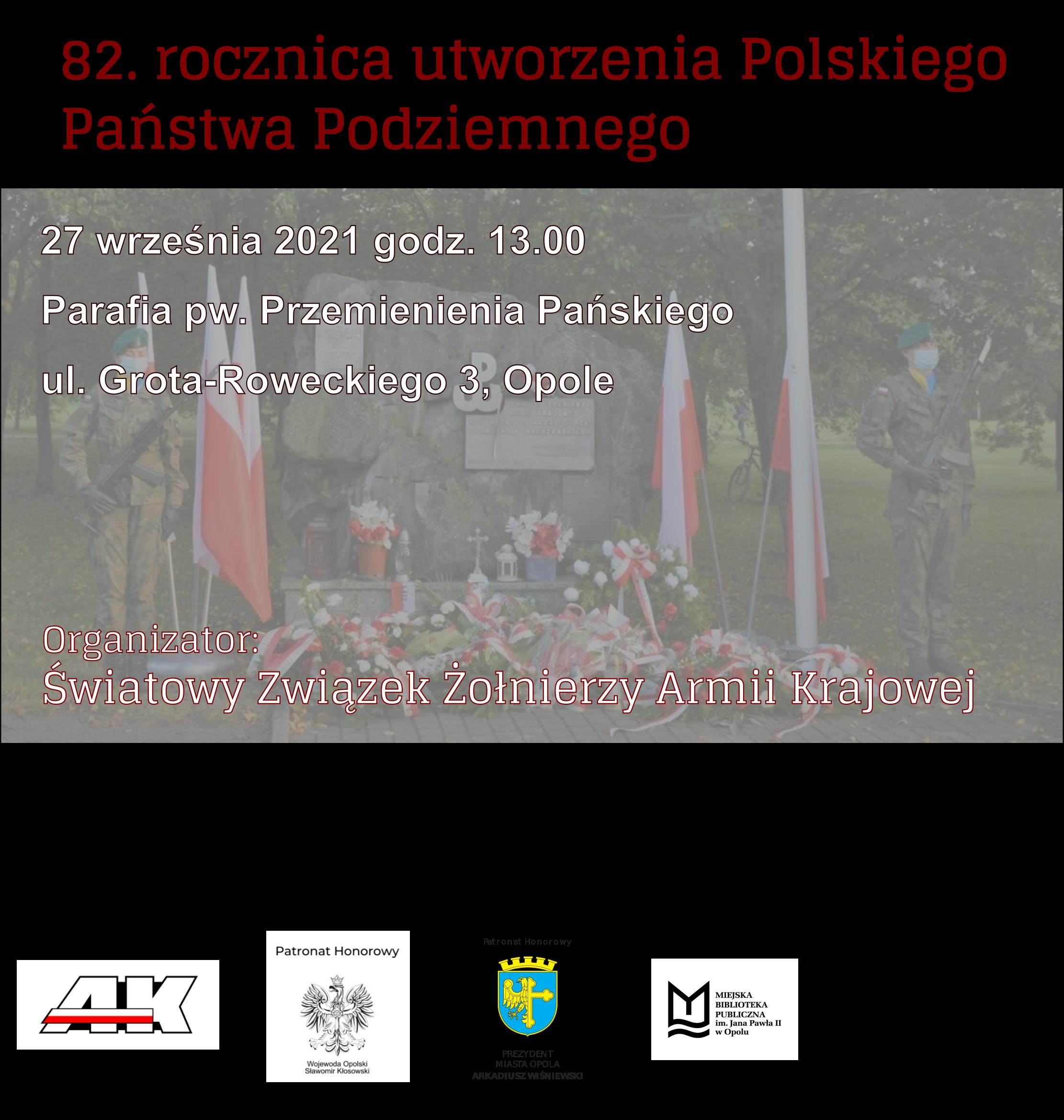 82. rocznica utworzenia Polskiego Państwa Podziemnego
