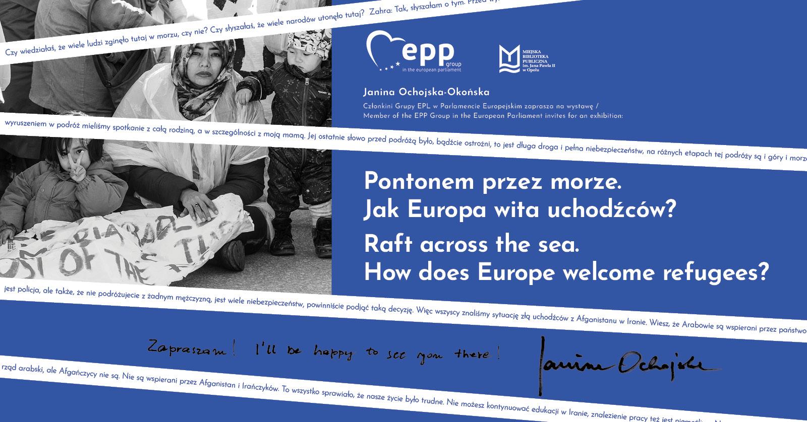 Wystawa Janiny Ochojskiej: Pontonem przez morze. Jak Europa wita uchodźców?